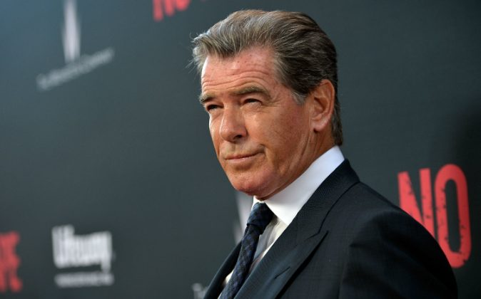 Actor Pierce Brosnan attends the premiere of the Weinstein Company's 'No Escape' in Partnership With Lifeway Foods at Regal Cinemas L.A. Live on August 17, 2015 in Los Angeles, California. (Charley Gallay/Getty Images for The Weinstein Company)