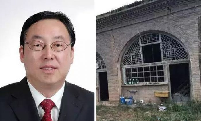 Li Jianmin's shabby cave dwelling in his hometown. (via Xinhua)