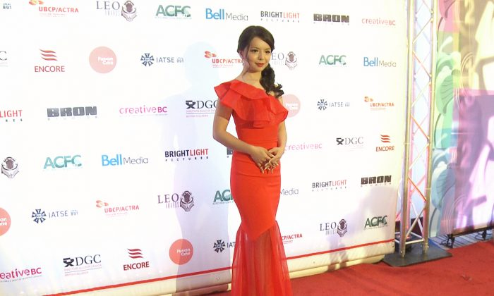 Anastasia Lin on the red carpet of the Leo Awards in Vancouver, Canada, on June 5, 2016. (Courtesy Flying Cloud Productions)