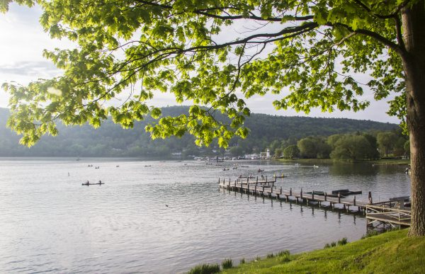 The shores of Otsego Lake provide space for solitude and silence. (Channaly Philipp/Epoch Times)