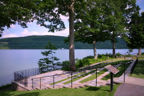 The museum also has a lakeside amphitheater on its grounds. (Courtesy of Fenimore Art Museum)