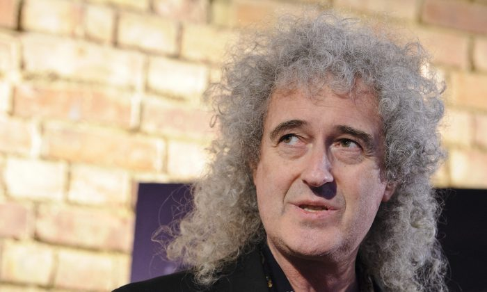Brian May attends a photo call as Queen are awarded The Heritage award at Imperial College London on March 5, 2013 in London, England.  (Photo by Ben Pruchnie/Getty Images)