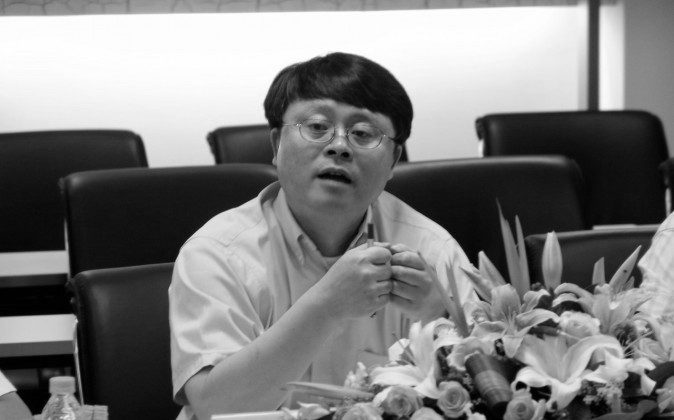 Jiang Mianheng, former president of the Shanghai branch of the prestigious Chinese Academy of Sciences, speaks at a conference in July 16, 2005. (Chinese Academy of Sciences)