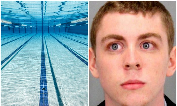 Brock Turner and a swimming pool. (Santa Clara County Sheriff's Office and Andrey Armyagov/Shutterstock)