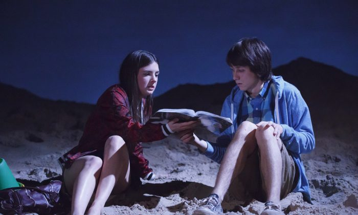 "An intellectual world starts to open up for Izzy (Elise Kibler) when she meets Daniel (Owen Campbell), in ""Indian Summer."" (Joan Marcus)"
