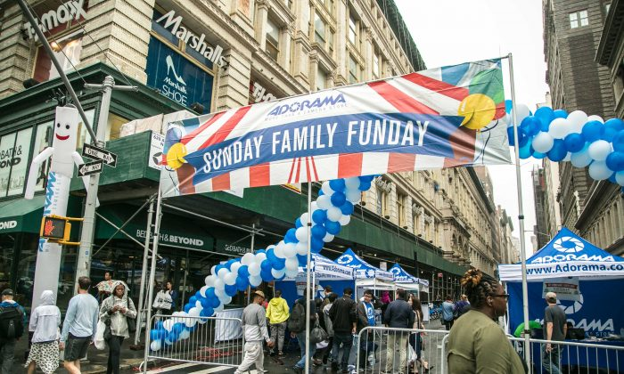 The Adorama Sunday Family Funday Street Fair in New York on 18th Street on June 5, 2016. (Benjamin Chasteen/Epoch Times)