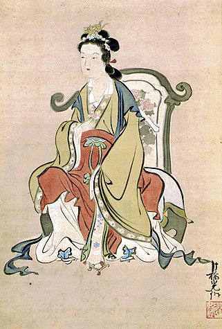 A depiction of the Queen Mother of the West from Edo-era Japan. (Kimbell Art Museum/Public Domain)