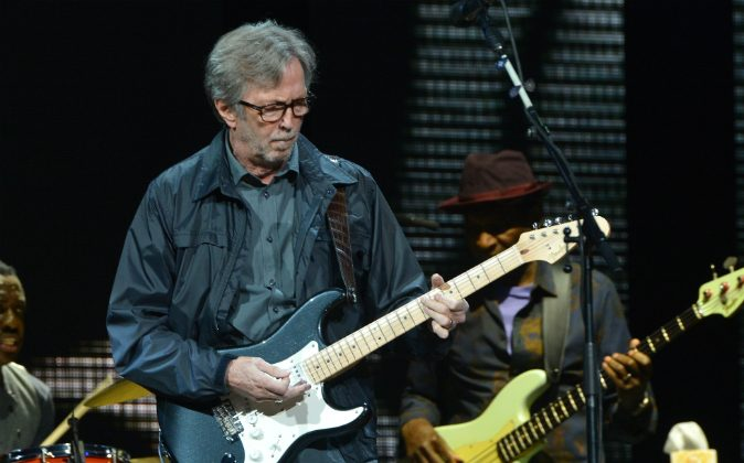 Eric Clapton performs on stage during the 2013 Crossroads Guitar Festival at Madison Square Garden on April 13, 2013 in New York City. (Larry Busacca/Getty Images) Restrictions