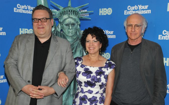 Jeff Garlin, Susie Essman and Larry David attend the 'Curb Your Enthusiasm' Season 8 premiere at the Time Warner Screening Room on July 6, 2011 in New York City. (Photo by Theo Wargo/Getty Images)