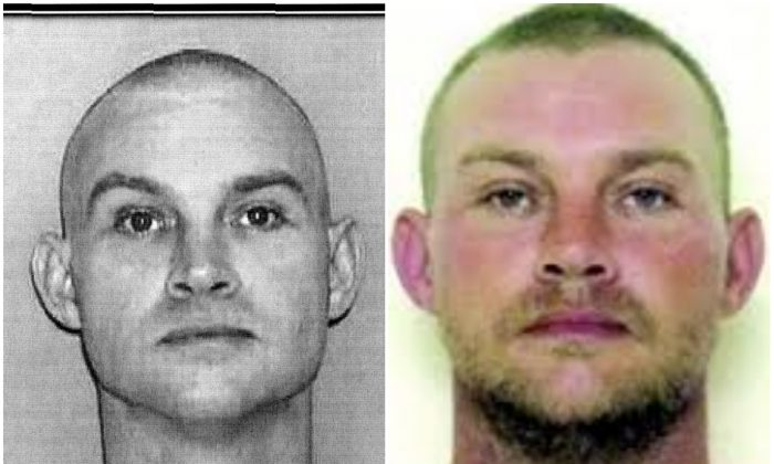 Left, a photo of prison escapee, Lloyd Collins Jones, when he was initially booked into the East Arkansas Correctional Facility—and right, a more recent photo of Jones. (Sebastian County Sheriff's Office photos)