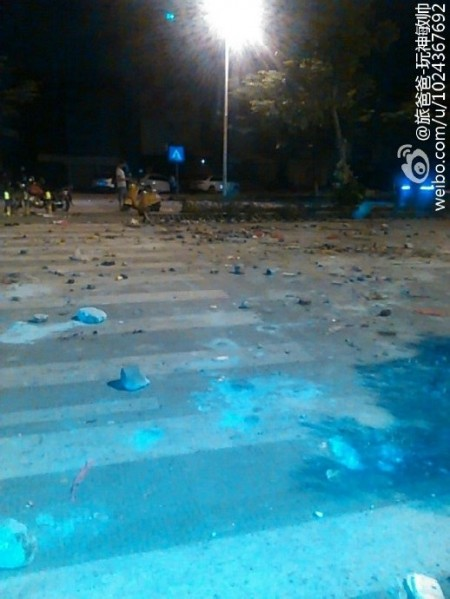 Aftermath of the incident. (via Sina Weibo)