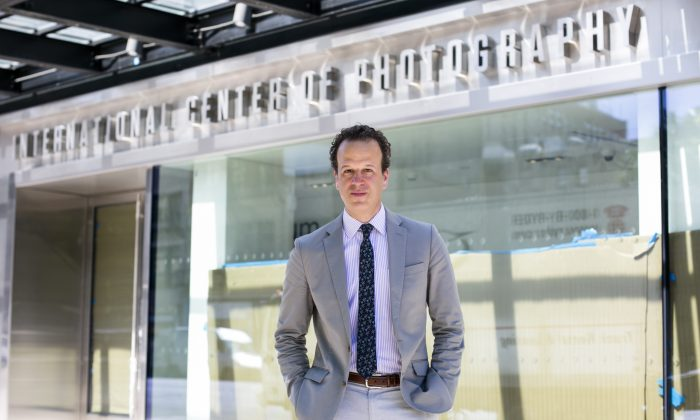 Mark Lubell, executive director of the International Center of Photography (ICP) at the new premises of the ICP in Manhattan, New York, on June 15, 2016. (Samira Bouaou/Epoch Times)