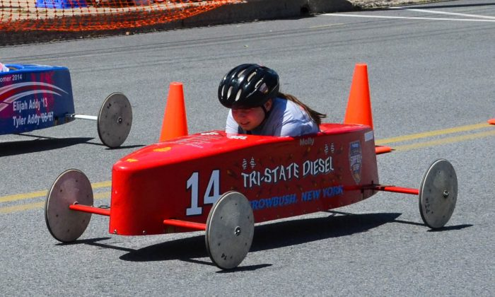 The Port Jervis Soap Box Derby in Port Jervis on June 12, 2016. (Yvonne Marcotte/Epoch Times)