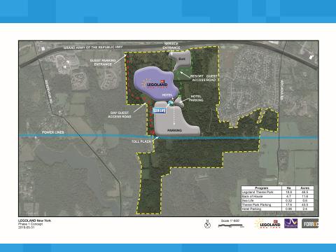 Map of proposed Legoland New York site. (courtesy Legoland Development)