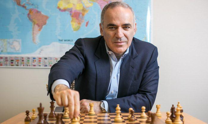 Former world chess champion Garry Kasparov at his office in Midtown, Manhattan, on June 13, 2016. (Benjamin Chasteen/Epoch Times)