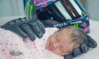Baby Girl, Who Loses Her Father Before Birth, Smiles After Being Wrapped in His Motorcycle Gloves