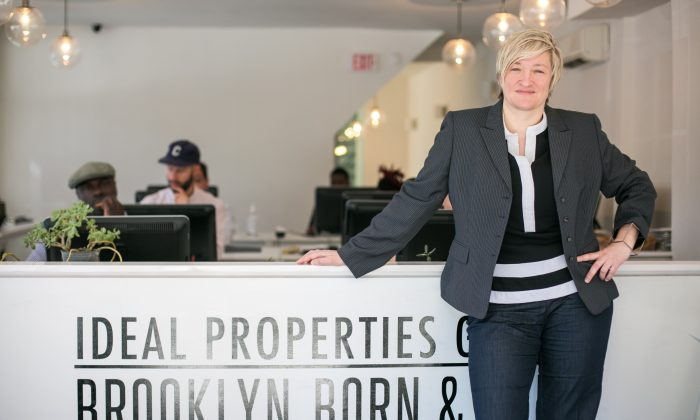 Aleksandra Scepanovic, founder and managing director of Ideals Properties Group, at her office in Williamsburg, Brooklyn, on June 9, 2016. (Benjamin Chasteen/Epoch Times)