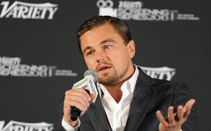 Actor Leonardo DiCaprio speaks at the 2014 Variety Screening Series of 'The Wolf of Wall Street' at ArcLight Hollywood on February 10, 2014 in Hollywood, California. (Angela Weiss/Getty Images)