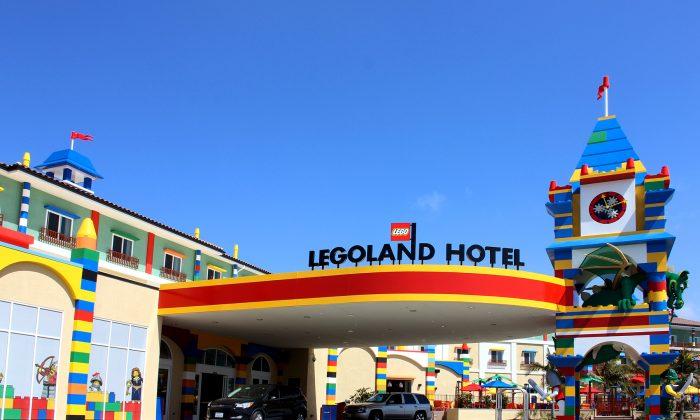 Legoland California hotel entrance. (courtesy Legoland California)
