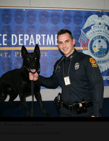 Sgt. Michael Spitaleri  and K9 Major.  (Clearwater Police Department)