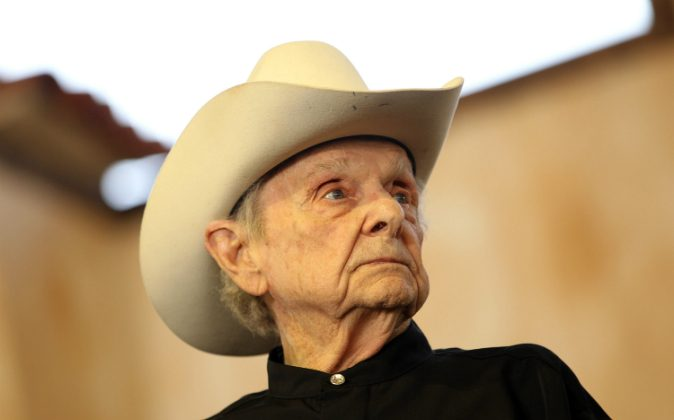 Musician Ralph Stanley performs onstage during the Stagecoach Country Music Festival held at the Empire Polo Field on April 28, 2012 in Indio, California. (Karl Walter/Getty Images for Stagecoach)