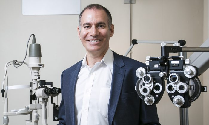 Ophthalmologist Dr. Mark Hornfeld in his office in Manhattan, New York, on June 22, 2016. (Samira Bouaou/Epoch Times)