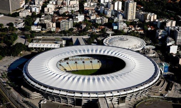 Aerial view of Maracana and Maracanazinho with six months to go to the Rio 2016 Olympic Games on February 5, 2016 in Rio de Janeiro, Brazil.  (Matthew Stockman/Getty Images)