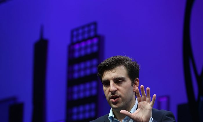 Airbnb co-founder and CEO Brian Chesky speaks during the Fortune Global Forum on Nov. 4, 2015 in San Francisco, California. (Justin Sullivan/Getty Images)