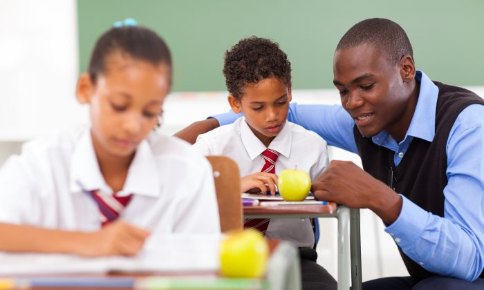 Black male teachers account for just 2 percent of the nation's teachers, yet teacher diversity has a positive impact on black students, particularly male. (michaeljung/Shutterstock)