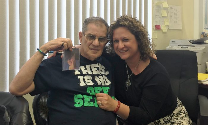 (L-R) Charles Reighn and Terri Ryan at Sunshine Adult Daycare. (courtesy of Community Home Health Care)