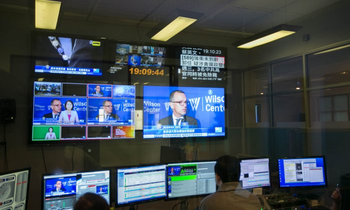 The NTD Television control room at their headquarters in New York. (The Epoch Times)