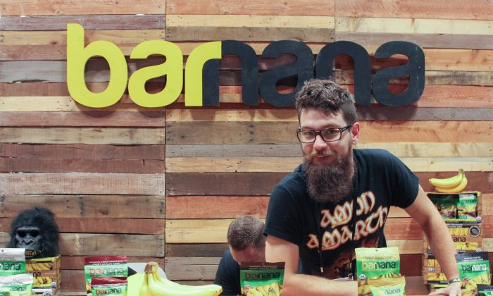 Barnana was one of over 2,500 vendors at the Summer Fancy Food Show in New York on June 26–28, 2016. (Andrea Hayley/Epoch Times)