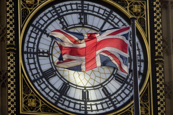 The Union Kingdom flag flaps