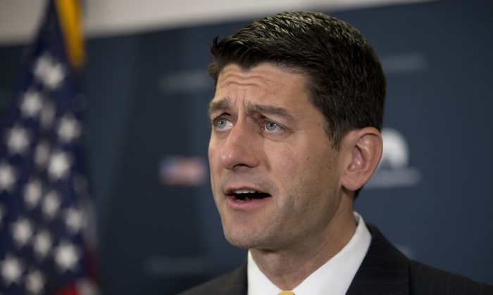 FILE - In this June 22, 2016 file photo, House Speaker Paul Ryan of Wis. speaks during a news conference on Capitol Hill in Washington. (AP Photo/Carolyn Kaster, File)