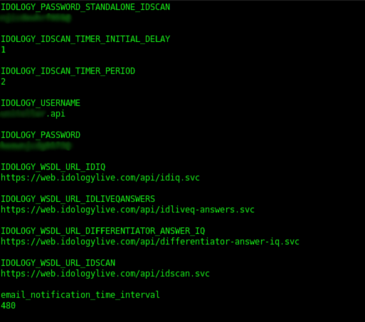 A screenshot from a cyberattack shows login credentials. (Courtesy of Edward Alexander)
