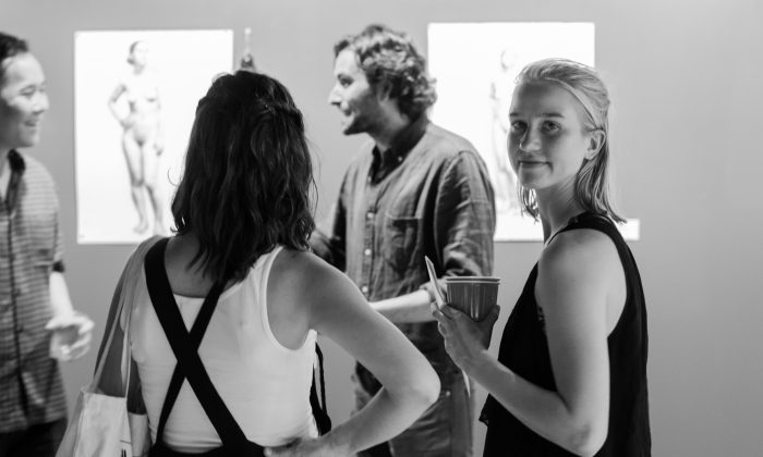 Savannah Tate Cuff was awarded the $10,000 Grand Prize of the Grand Central Atelier's Figure Drawing Competition at the Eleventh Street Arts gallery in Long Island City, New York on July 6, 2016. (Benjamin Chasten/Epoch Times)