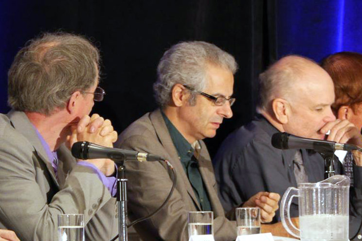 Nick Pope, a former UK Ministry of Defence official who was responsible for the government's unidentified aerial phenomena (UAP) files in the '90s, testifies at a UAP disclosure hearing in Brantford, Canada, on June 25, 2016. (Courtesy of Zland Communications)