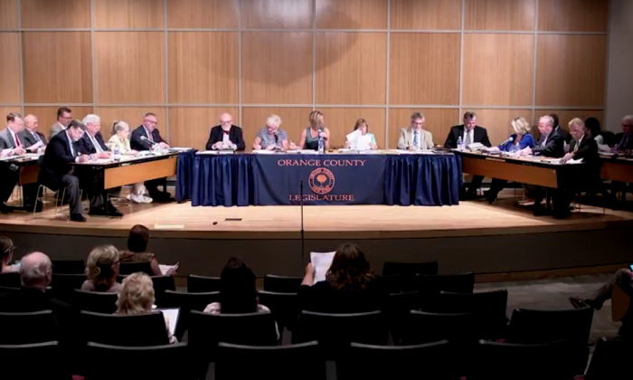 A screenshot of the July 7, 2016 Orange County legislative session in Goshen uploaded to the Youtube channel GenerationsVideoFile and taken on July 12 , 2016. (Screenshot via Youtube.com)