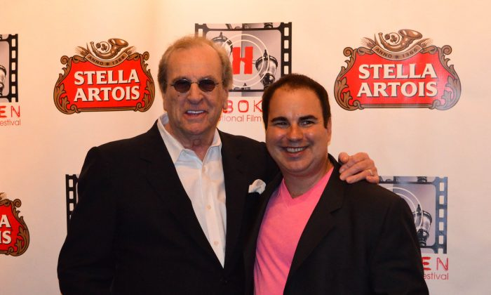 (L-R) Actor Danny Aiello and Kenneth Del Vecchio at the Hoboken International Film Festival in Middletown on June 3, 2016. (Yvonne Marcotte/Epoch Times)