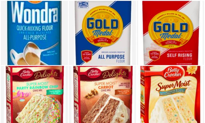 Some of the recalled products by General Mills. (Photos courtesy of General Mills)