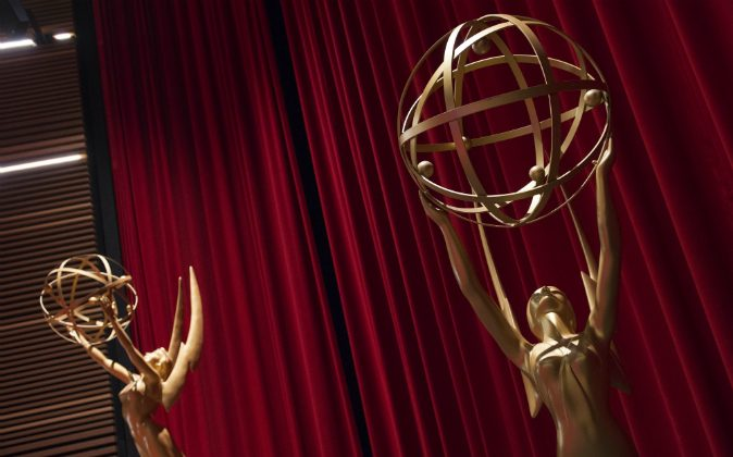 General view of the setting at the 68th Emmy Nominations Announcement at the Academy of Television Arts & Sciences in North Hollywood, California, on July 14, 2016. (VALERIE MACON/AFP/Getty Images)