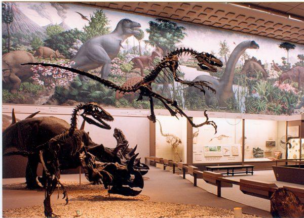 The dinosaur mural. (William K. Sacco)