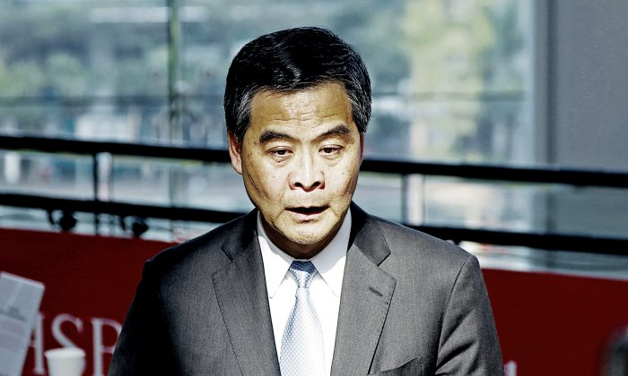 Leung Chun-ying's gangster-style practices are in the limelight. (Epoch Times Archive)