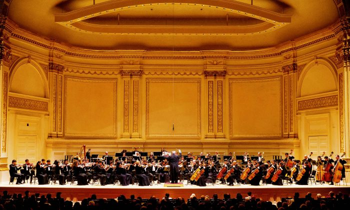 The Shen Yun Symphony Orchestra performing on New York's Carnegie Hall in October 2015. (NTD Television)