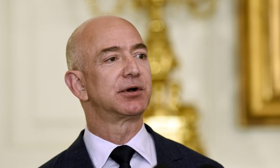 Jeff Bezos, the founder and CEO of Amazon.com, speaks in the State Dining Room of the White House on May 5, 2016. (AP Photo/Susan Walsh)