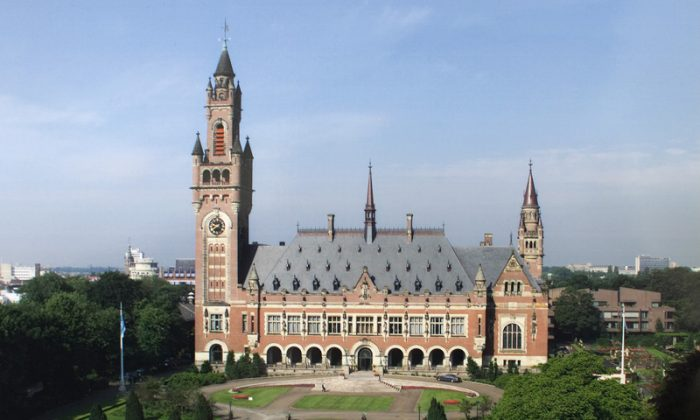 The Peace Palace in The Hague, Netherlands, the seat of the International Court of Justice. (ICJ, Public Domain)