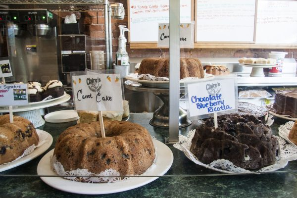 The pastry counter inside Claire's Corner Copia. (Annie Wu/Epoch Times)