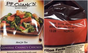 P.F. Chang's Frozen Meals Recalled Over Possible Metal Fragments