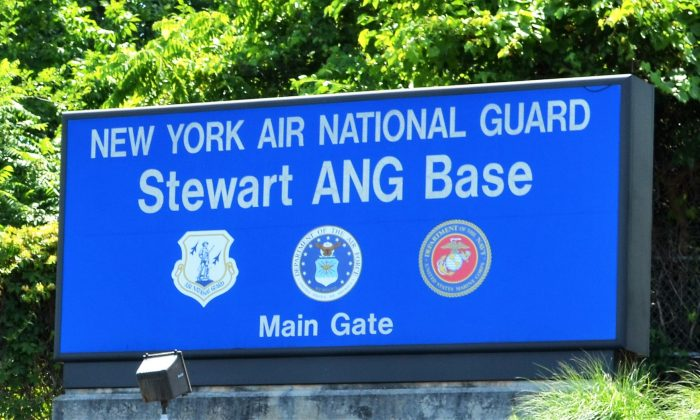 Entrance to the New York Air National Guard base at Stewart Airport in New Windsor on June 24, 2016. (Yvonne Marcotte/Epoch Times)
