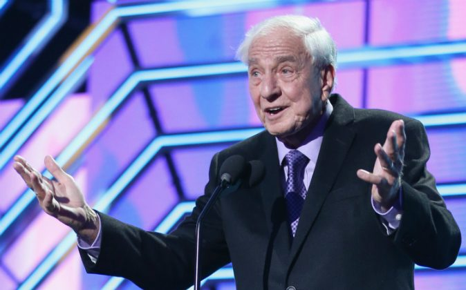 Actor Garry Marshall presents the Timeless Icon Award onstage during the 2016 TV Land Icon Awards at The Barker Hanger on April 10, 2016 in Santa Monica, California. ( Joe Scarnici/Getty Images for TV Land)